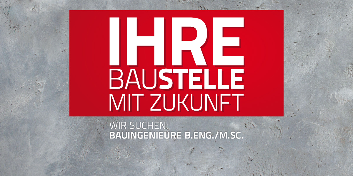 Middendorf Bau sucht Bauingenieure Bachelor of Engineering oder Master of Science